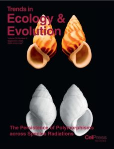 Trends in Ecology and Evolution front cover, September 2020